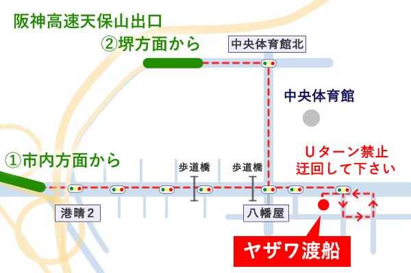 高速からの地図イラスト